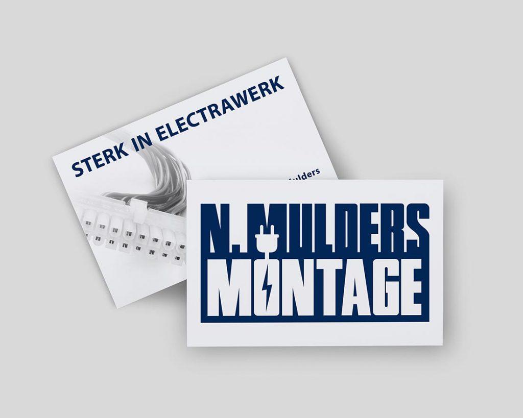 N.Mulders Montage visitekaartje