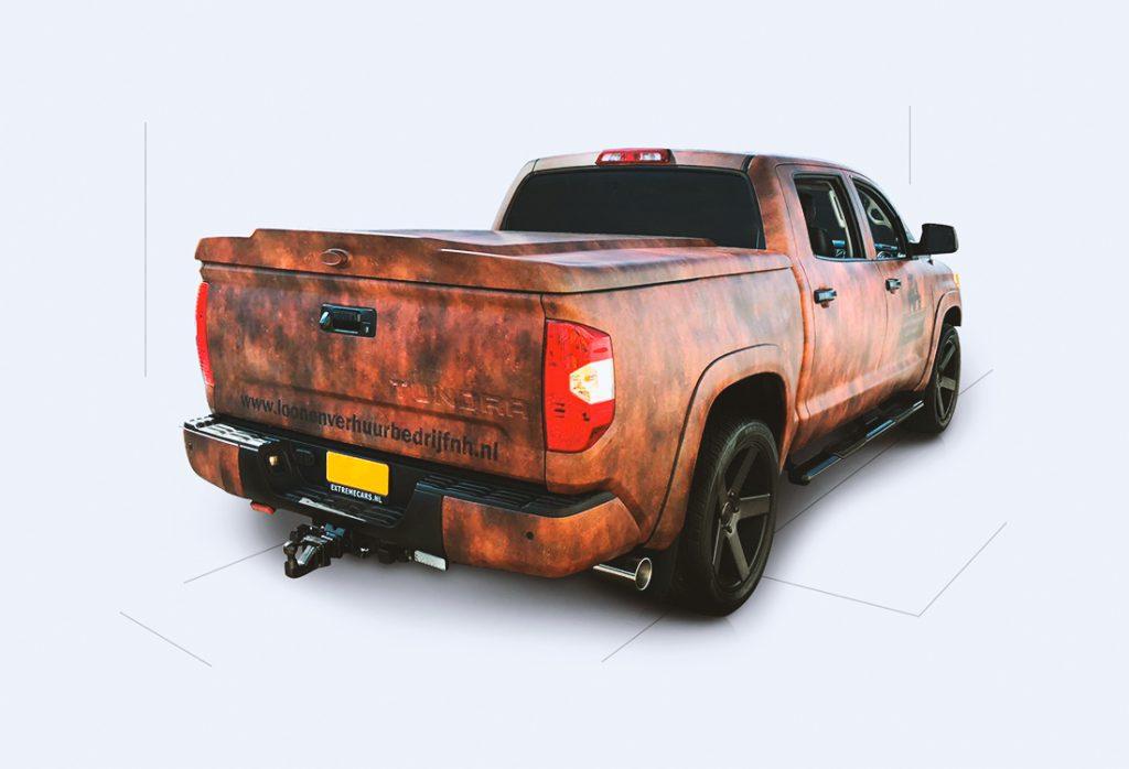 roestprint op een Toyota Tundra